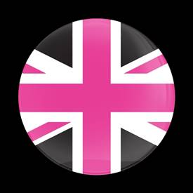 Magnetic Car Grille Dome Badge-Flag UK PinkJack