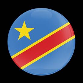 Magnetic Car Grille Dome Badge-Flag Congo