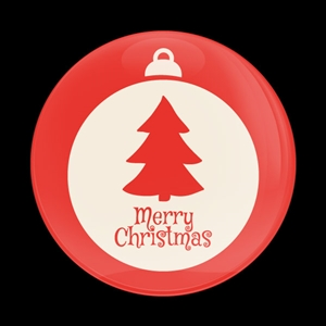 Magnetic Car Grille Dome Badge-Seasonal Christmas Ornament