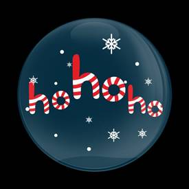 Magnetic Car Grille Dome Badge-Seasonal Christmas HoHoHo