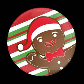 Magnetic Car Grille Dome Badge-Seasonal Christmas Gingerbread