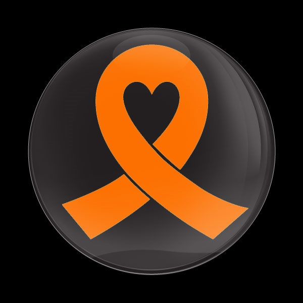 Dome Badge Orange Ribbon Black