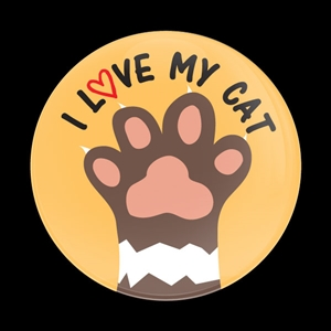 Magnetic Car Grille Dome Badge-I Love My Dog