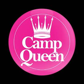 Magnetic Car Grille Dome Badge-Camp Queen