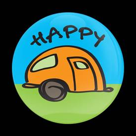 Magnetic Car Grille Dome Badge-Happy Camper