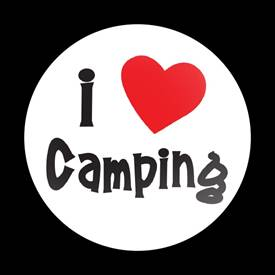 Magnetic Car Grille Dome Badge-I Love Camping 01