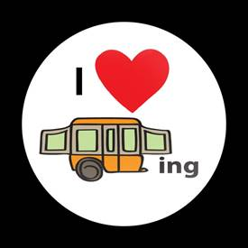 Magnetic Car Grille Dome Badge-I Love Camping 02