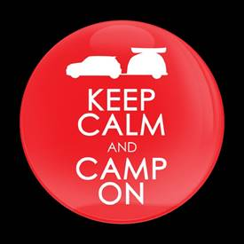 Magnetic Car Grille Dome Badge-Keep Calm Camp On