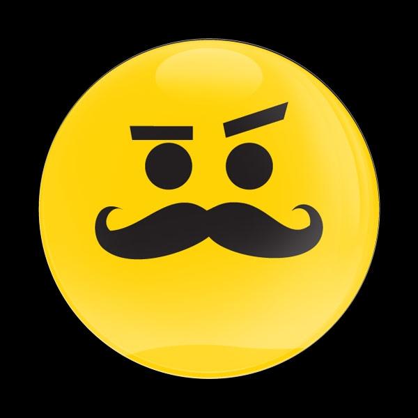 Dome Badge Emoji Mustache Smirking
