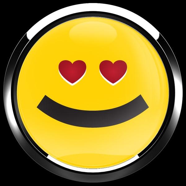 dome badge emoji heart eyes