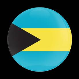 Magnetic Car Grille Dome Badge-Flag Bahamas