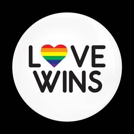 Magnetic Car Grille Dome Badge-Love Wins