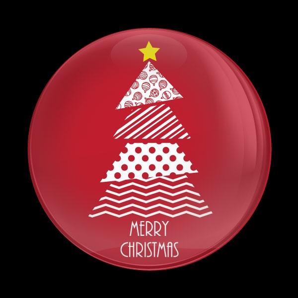 Dome Badge Seasonal Christmas Tree
