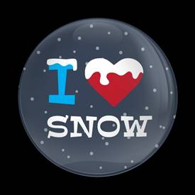 Magnetic Car Grille Dome Badge-Seasonal I Love Snow
