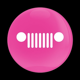 Magnetic Car Grille Dome Badge-PINK JEEP