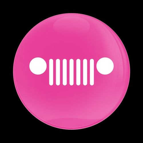 Dome Badge Pink Jeep