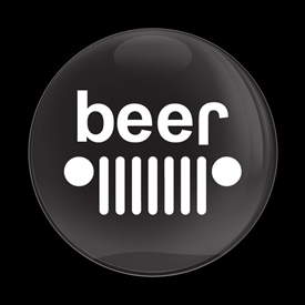 Magnetic Car Grille Dome Badge-JEEP Beer Black