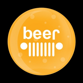 Magnetic Car Grille Dome Badge-JEEP Beer Bubble