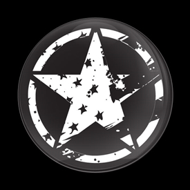 DISTRESSED STAR US FLAG BLACK