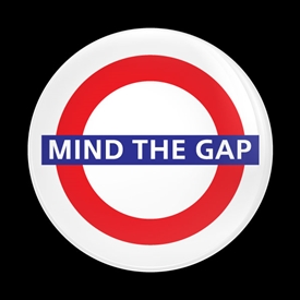 Magnetic Car Grille Dome Badge-London Mind the Gap