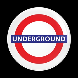 Magnetic Car Grille Dome Badge-London UNDERGROUND