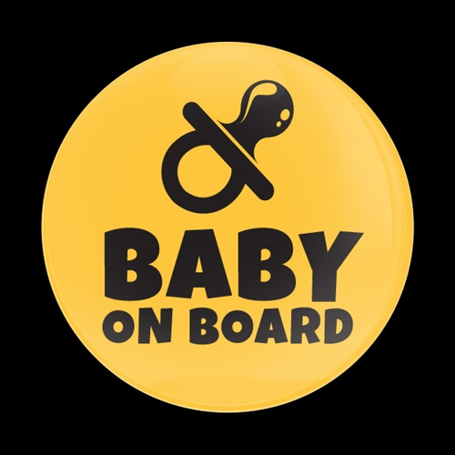 Magnetic Car Grille Dome Badge-Baby on Board