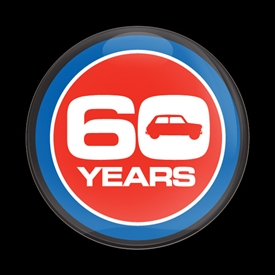 Magnetic Car Grille Dome Badge-60 YEARS ANNIVERSARY