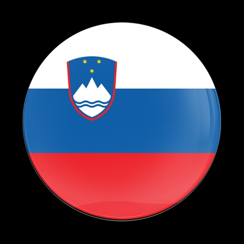 Magnetic Car Grille Dome Badge - FLAG SLOVENIAN
