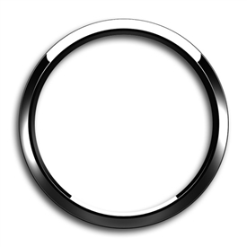 Magnetic Grill Badge Holder Trim Ring Chrome