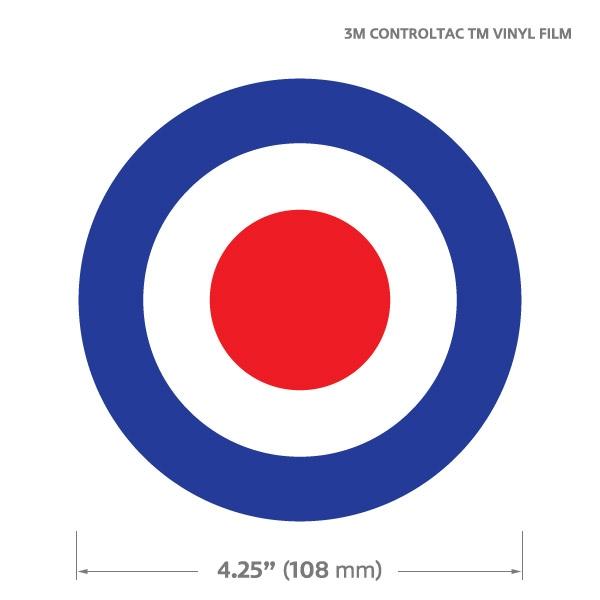 Round Gographic Automotive Decal Sticker British Royal Air