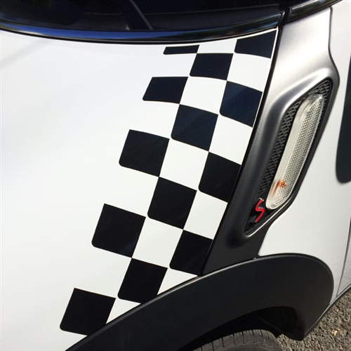 HOOD GOGRAPHIC for MINI COOPER R60, 61 - CHECKER