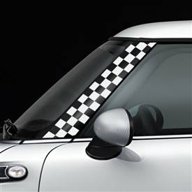 R55,R56,R57 GoGraphic Adhesive Decal Checker White