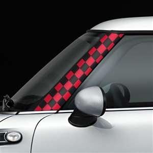 R55,R56,R57 GoGraphic Adhesive Decal Checker Red