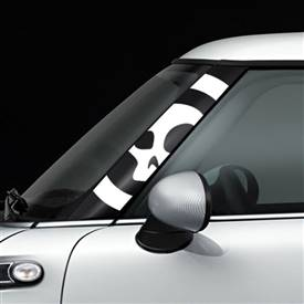 R55,R56,R57 GoGraphic Adhesive Decal Skull White