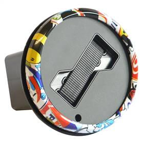 Hitch Cover Badge Holder - Graffiti Trim Ring