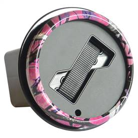 Hitch Cover Badge Holder - Pink Camo