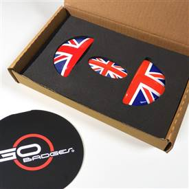 MINI Cooper R55,R56,R57,R58,R59 Door Pull and Glove Box Cap in Unionjack