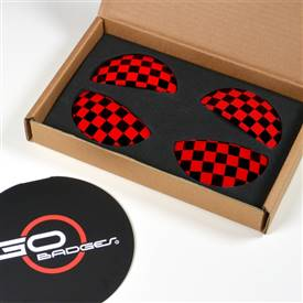 MINI Cooper R60 Countryman Door Pull Cap in Red Checker