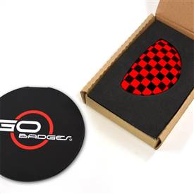 MINI Cooper Clubman R55 3r Door Pull Cap in Red Checker