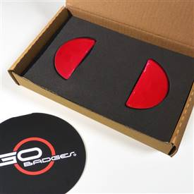 MINI Cooper R55,56,57,58,59 Door Pull and Glove Box covers in Red