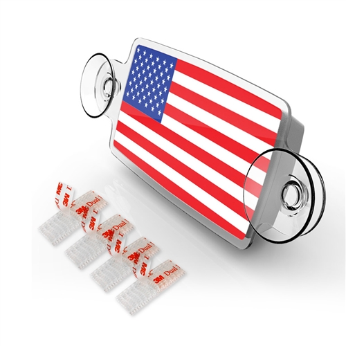 SMALL Toll Pass / EZ Pass / Transponder Holder - FLAG US