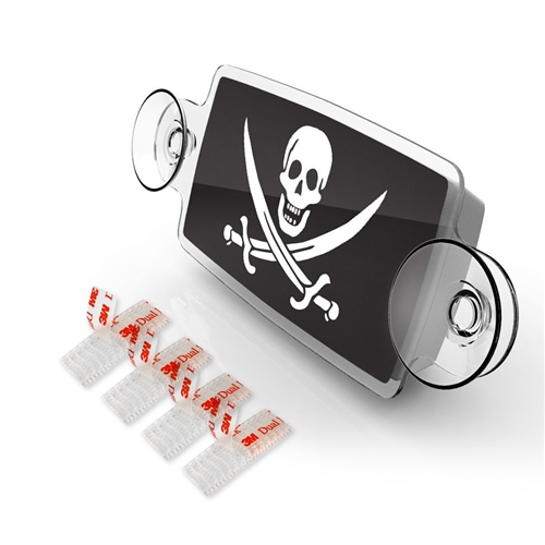 SMALL Toll Pass / EZ Pass / Transponder Holder - JOLLY ROGER