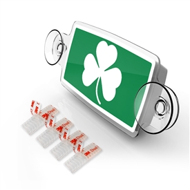 Small Toll Pass / EZ Pass / Transponder Holder - SHAMROCK