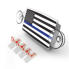 Small Toll Pass / EZ Pass / Transponder Holder - US FLAG THIN BLUE LINE