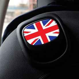 MINI COOPER F55,56 SEAT RECLINE STICKER - UNIONJACK