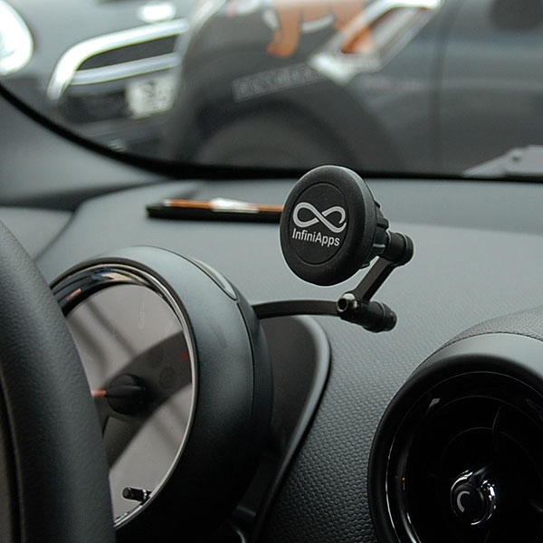 mini cooper r60 r61 magnetic cell phone holder. Black Bedroom Furniture Sets. Home Design Ideas
