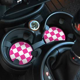 73mm Cup Holder Insert Pink Checker