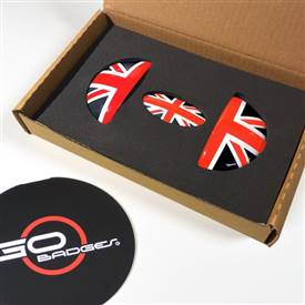 MINI Cooper R55,R56,R57,R58,R59 Door Pull and Glove Box Cap in RedJack