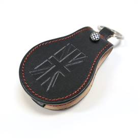 MINI Cooper F54,F55,F56 Premium Key Fob in Black with red stitches