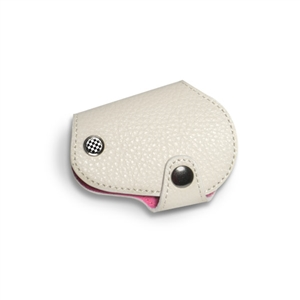 MINI Cooper Countryman R55,R56,R57,R58,R59,R60,R61 Leather & Microfiber Key Fob Cover White